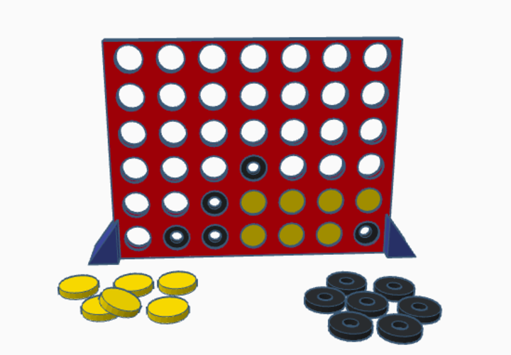 Connect four-for visually impaired persons 3D Print 143846