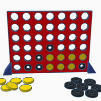 Small Connect four-for visually impaired persons 3D Printing 143846