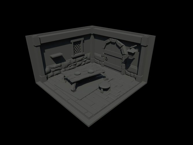 Interior of house style cartoon 3D Print 143869