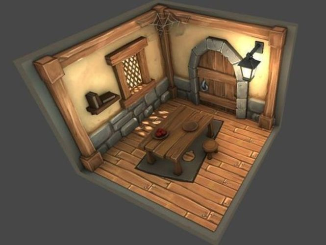 Interior of house style cartoon 3D Print 143870