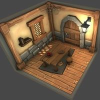 Small Interior of house style cartoon 3D Printing 143870