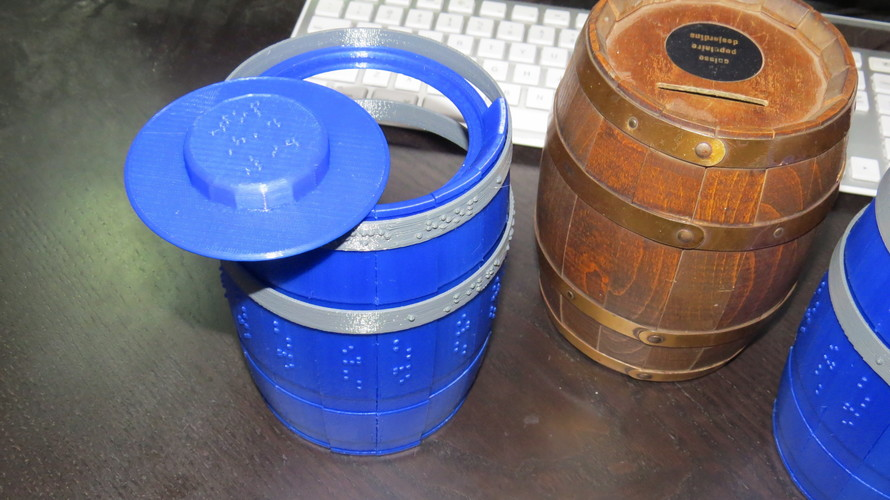 Wooden Barrel Model Kit 3D Print 143875