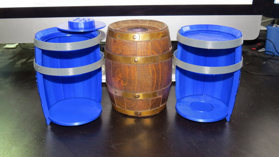 Wooden Barrel Model Kit 3D Print 143877