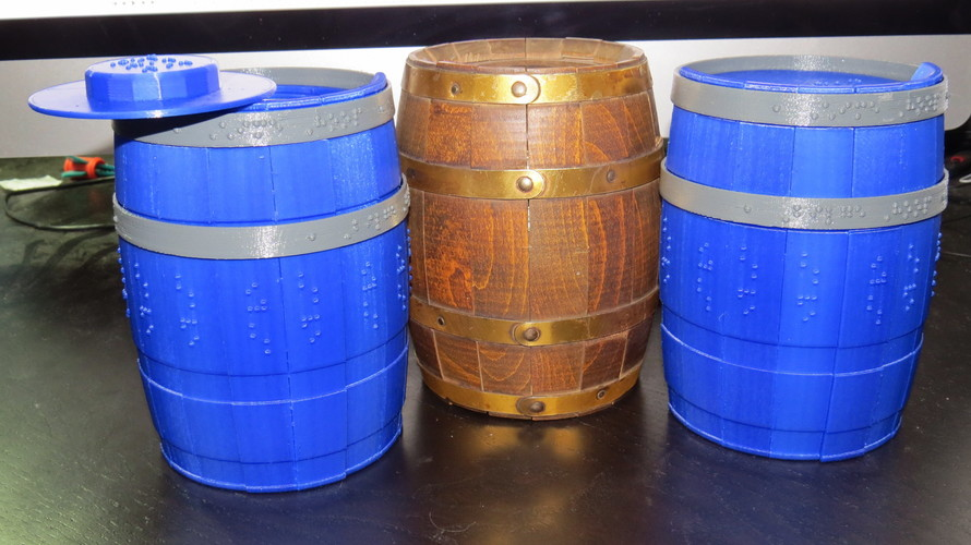 Wooden Barrel Model Kit 3D Print 143878