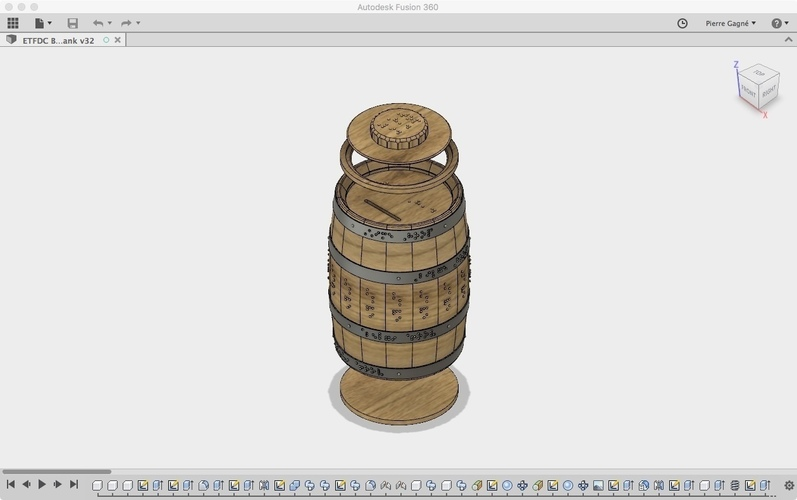 Wooden Barrel Model Kit 3D Print 143879
