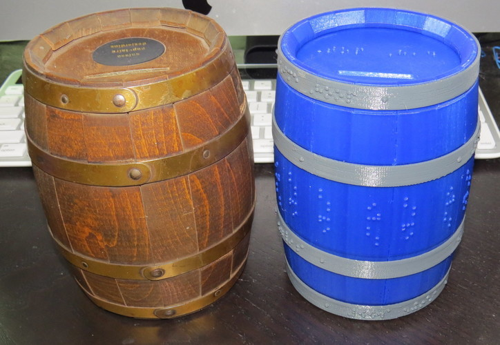 Wooden Barrel Model Kit 3D Print 143880