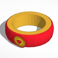 Small bright heart bracelet 3D Printing 14393