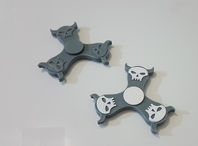 Mighty Skull Spinner 3D Print 143948