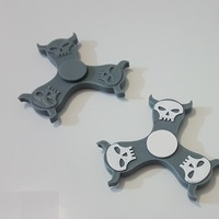 Small Mighty Skull Spinner 3D Printing 143948