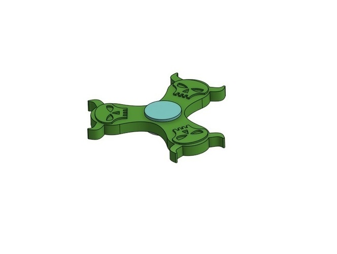 Mighty Skull Spinner 3D Print 143955