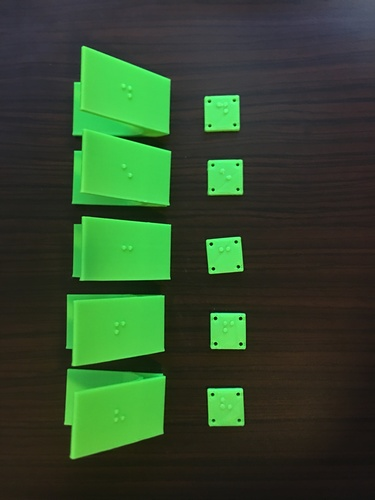 Braille Clothing Clips for the Visually Impaired 3D Print 143991