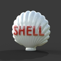Small Shell Vintage Gas Pump Globe 3D Printing 144020