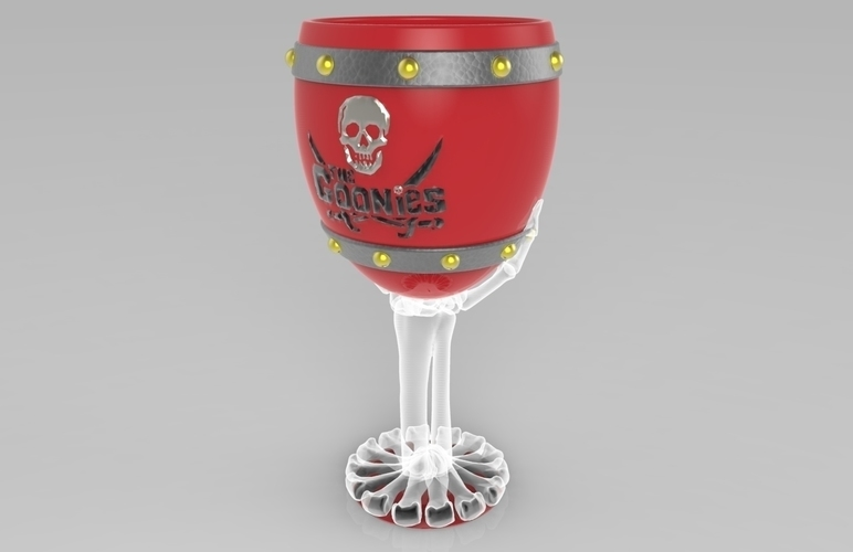 The Goonies Skeletal Hand Wine Goblet - 320ml 3D Print 144054