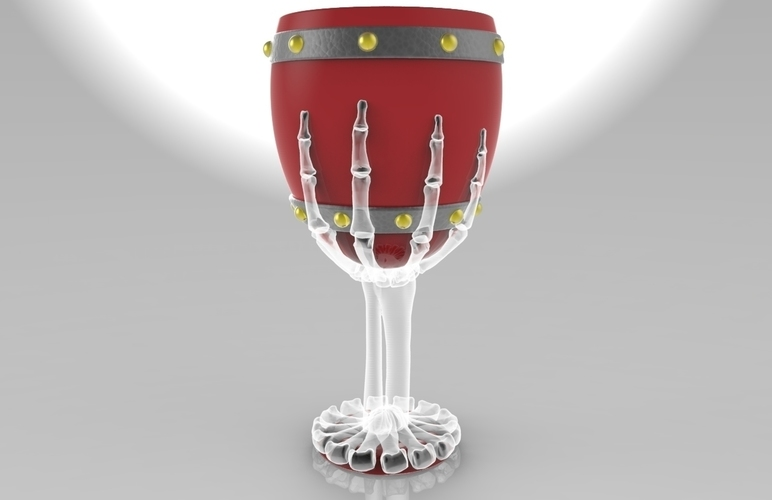 The Goonies Skeletal Hand Wine Goblet - 320ml 3D Print 144056