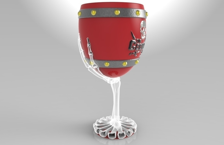 The Goonies Skeletal Hand Wine Goblet - 320ml 3D Print 144057