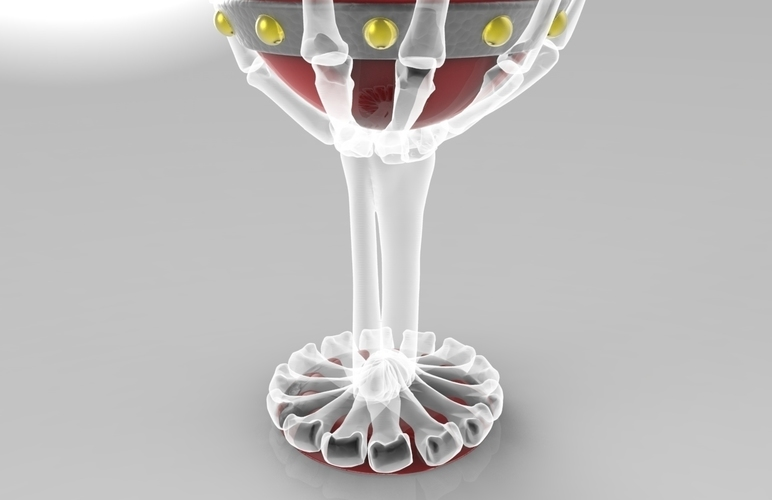 The Goonies Skeletal Hand Wine Goblet - 320ml 3D Print 144060