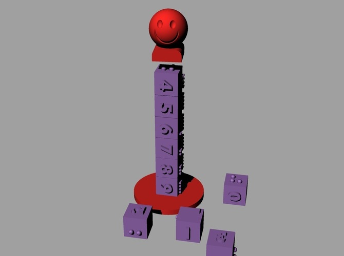 Number Tower 3D Print 144119