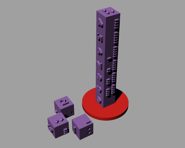 Number Tower 3D Print 144120