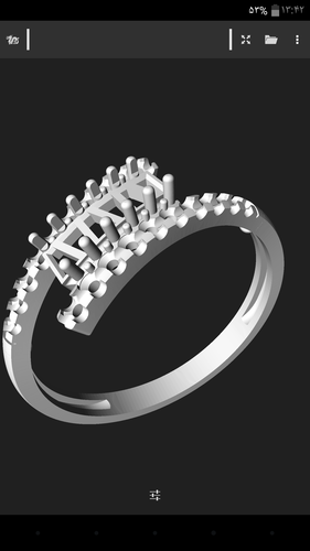 Beauty ring 3D Print 144149