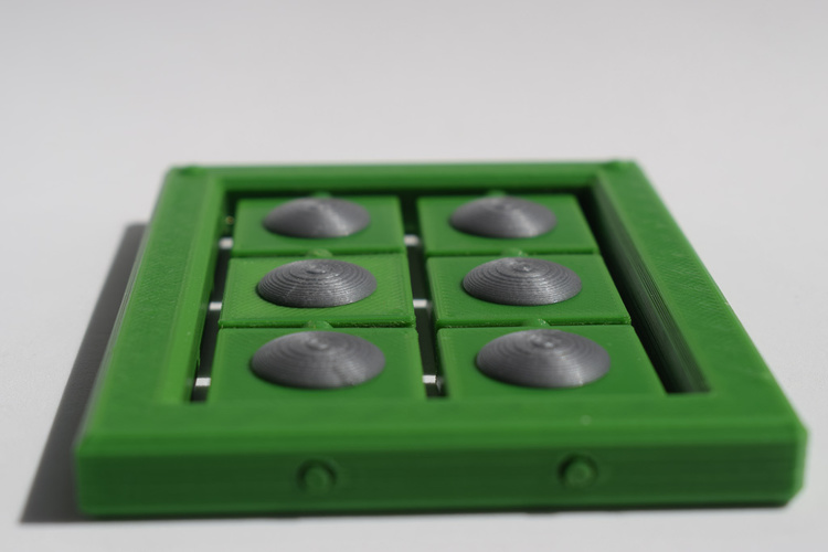 Braille cell - letter learning kit 3D Print 144265
