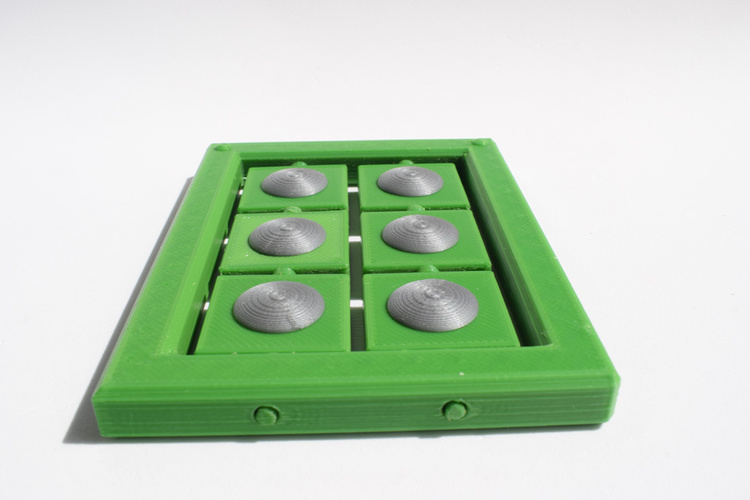 Braille cell - letter learning kit 3D Print 144266