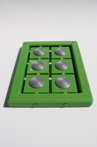 Braille cell - letter learning kit 3D Print 144267