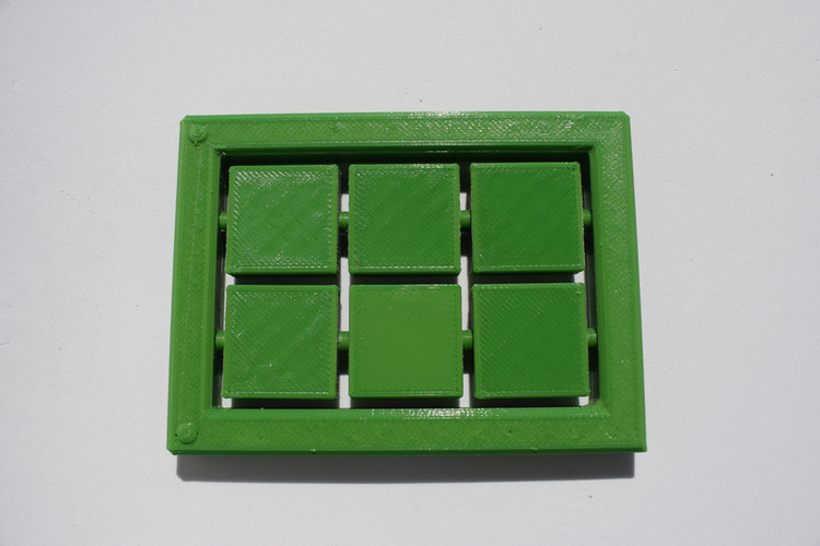 Braille cell - letter learning kit 3D Print 144272