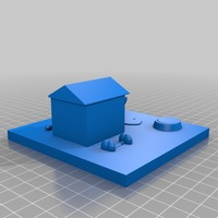 Small the dog house 3D Printing 14433