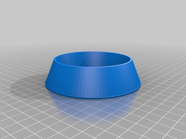 Medium dog bowl blank 3D Printing 14435
