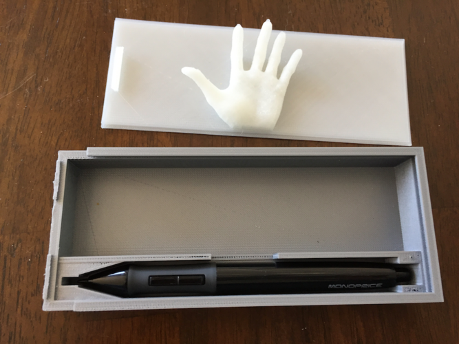 Graphic Tablet Pen and Cable Box 3D Print 144365