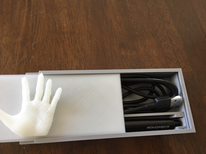 Graphic Tablet Pen and Cable Box 3D Print 144366