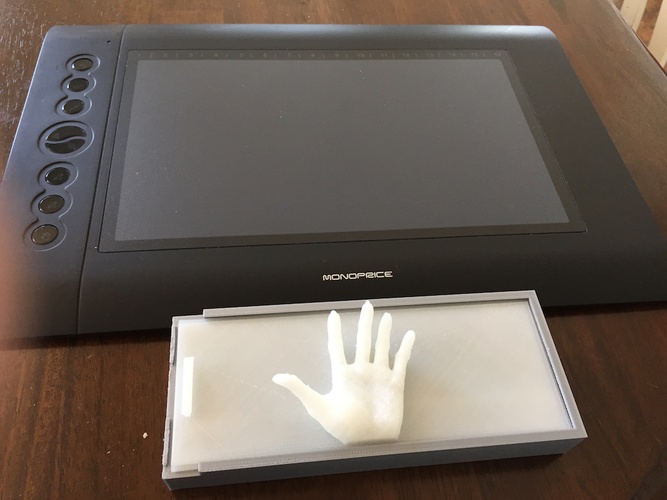 Graphic Tablet Pen and Cable Box 3D Print 144367