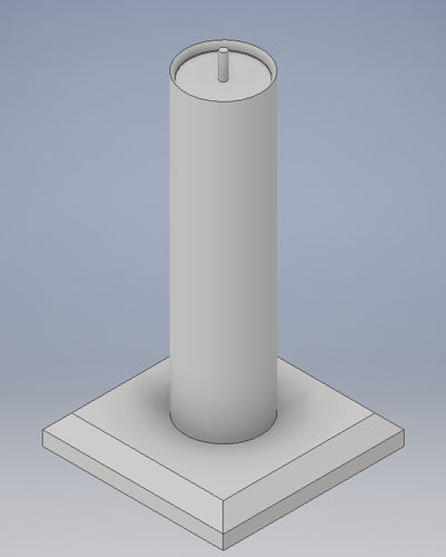 Candle with flame 3D Print 144406