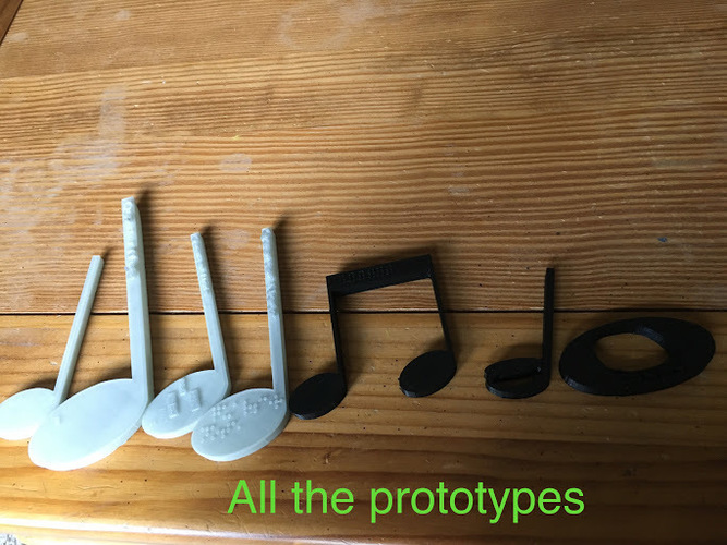 Music Notes for Visually Impaired 3D Print 144415