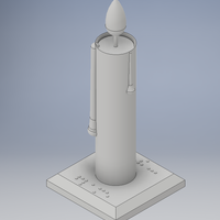 Small Candle with flame 3D Printing 144416