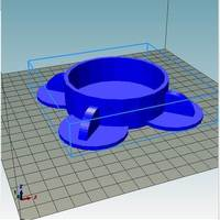 Small Tabletop Cup Holder Early Design 3D Printing 144418