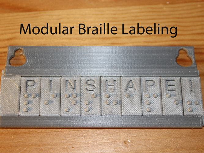 Modular Braille Labeling and Learning System 3D Print 144460
