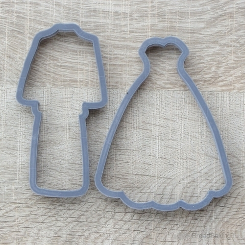 Set of costume and dress cookie cutter for professional 3D Print 144499