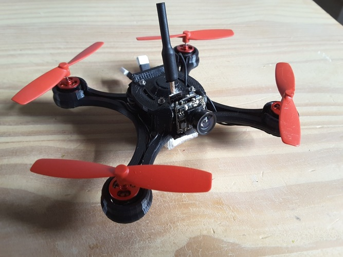 Micro Quad fpv Racer 100mm Brushless 1S  0703  20.000kv 3D Print 144534