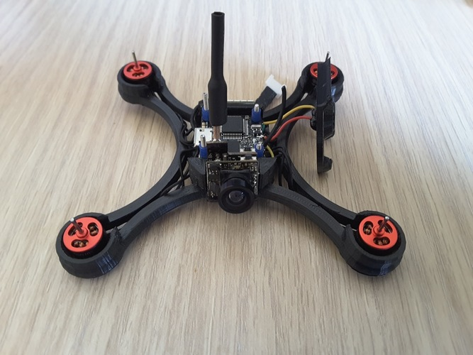 Micro Quad fpv Racer 100mm Brushless 1S  0703  20.000kv 3D Print 144535