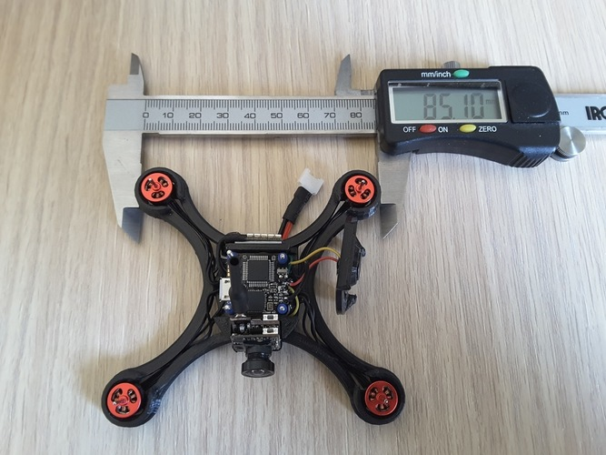 Micro Quad fpv Racer 100mm Brushless 1S  0703  20.000kv 3D Print 144537