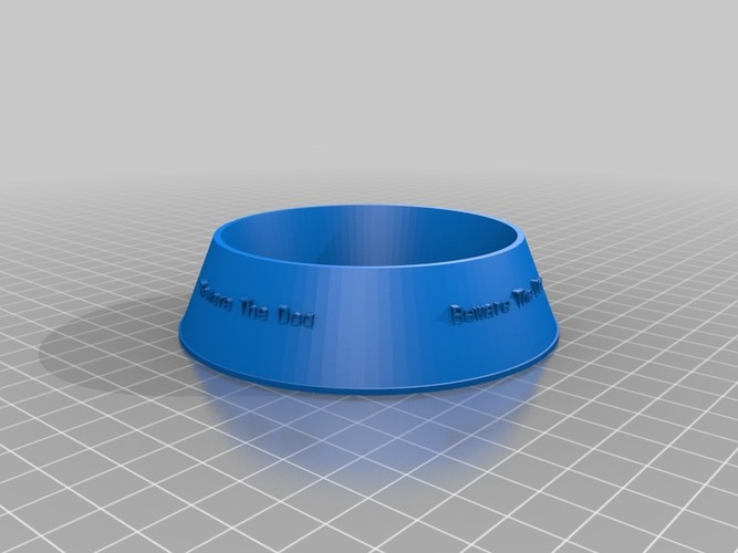 beware the dog Pet Bowl 3D Print 14454