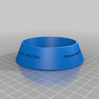 Small beware the dog Pet Bowl 3D Printing 14454