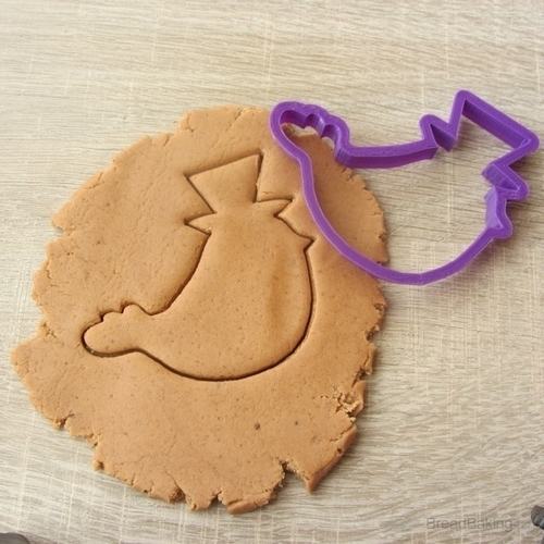 Bird in the hat cookie cutter for professional 3D Print 144583