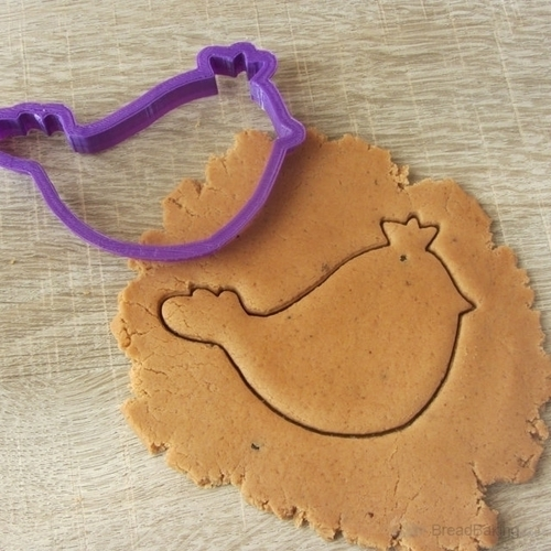 Bird with a crown cookie cutter for professional 3D Print 144602