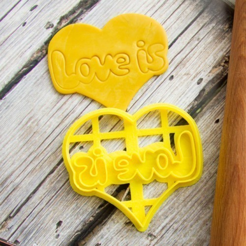 Stamp LOVE IS cookie cutter for professional 3D Print 144613