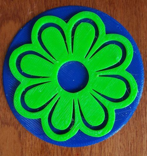 Flower Coasters for Mother's Day 3D Print 144624
