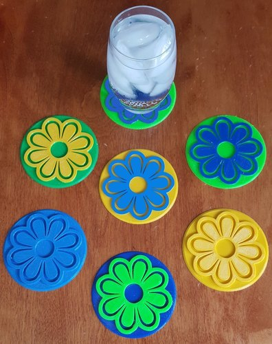 Flower Coasters for Mother's Day 3D Print 144625