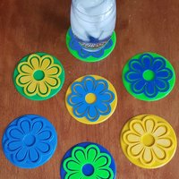 Small Flower Coasters for Mother's Day 3D Printing 144625