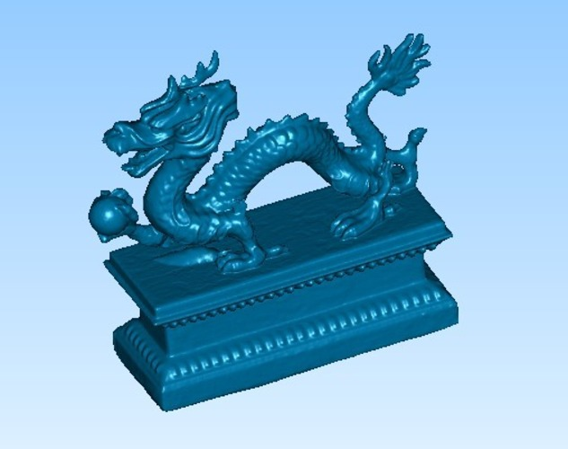 dragon with pearl 3D Print 14464